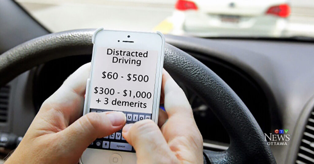 fine for texting while driving