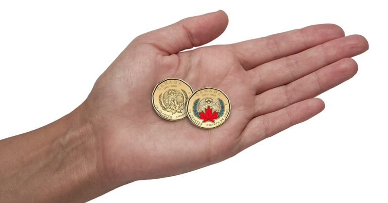 Canada's first-ever coloured loonie – Have you seen one yet?
