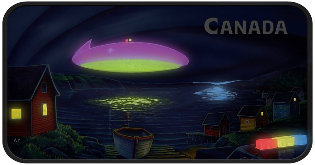Canadian latest UFO glowing coin