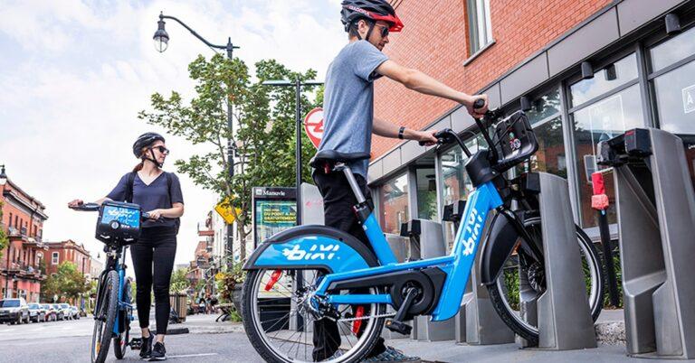 electric BIXI bikes
