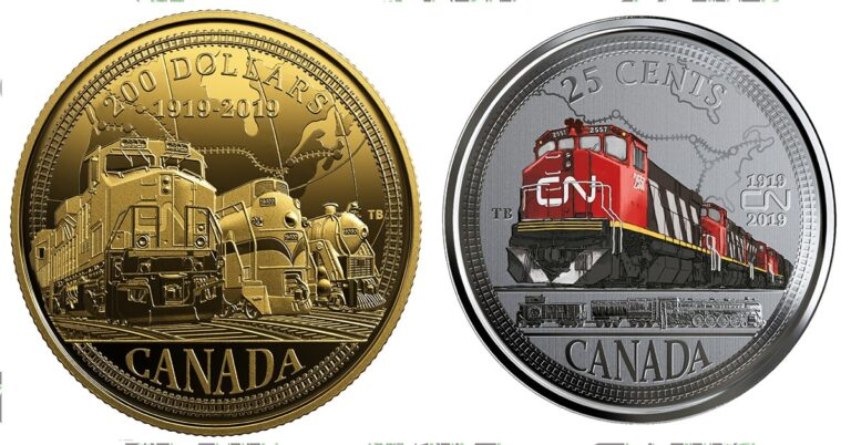 Canadian Mint celebrates CN new coins