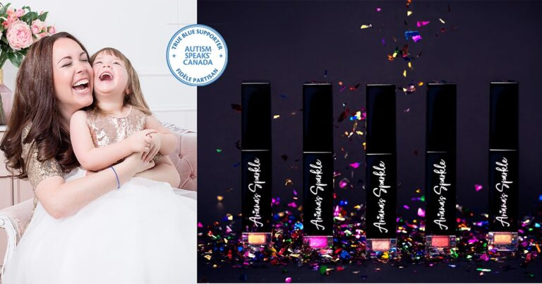Ariana's Sparkle lip colour collection in support of the autism community