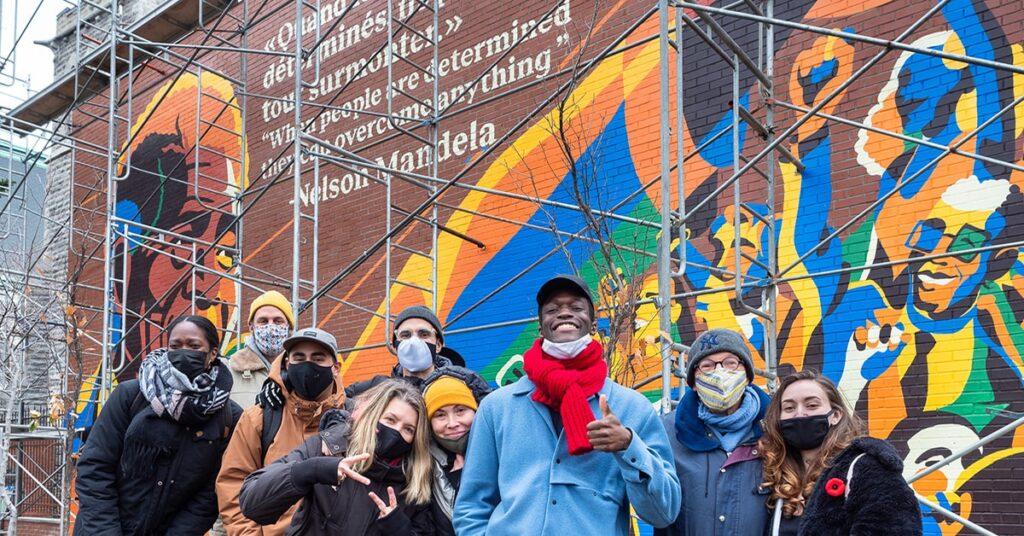 Commemorative Nelson Mandela Montreal Mural