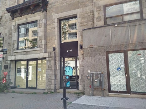 Empty storefronts in Montreal