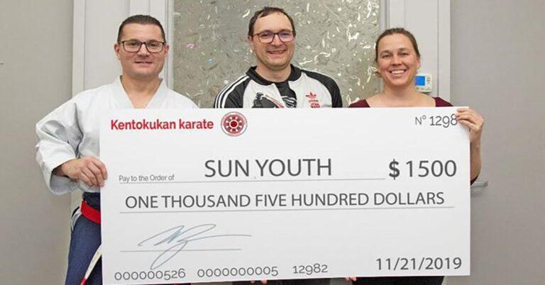 Kentokukan – Black belts in generosity for Sun Youth