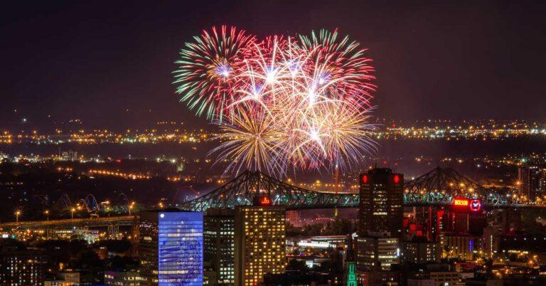 Surprise LaRonde mini-Fireworks in various Mtl boroughs