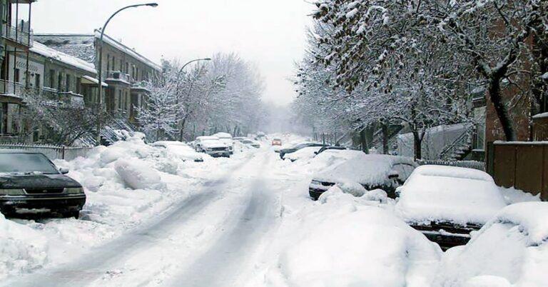 Montreal snow storm