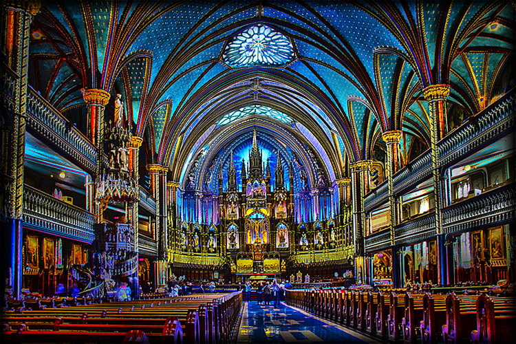 Old Montreal Notre Dame Basilica