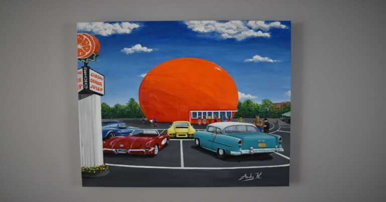 Montreal's Iconic Orange Julep exclusive painting to raise money for Sun Youth