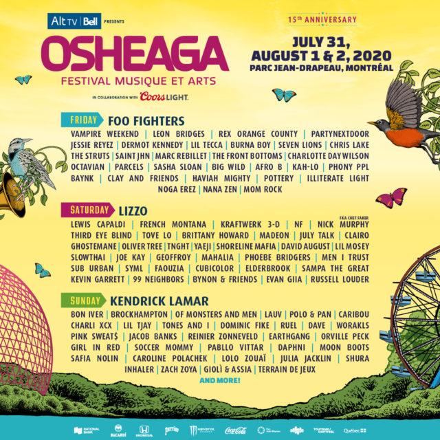 Osheaga 2020 line-up