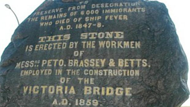 The Black Rock Or Irish Commemorative Stone