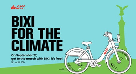 Protest climate change with BIXI