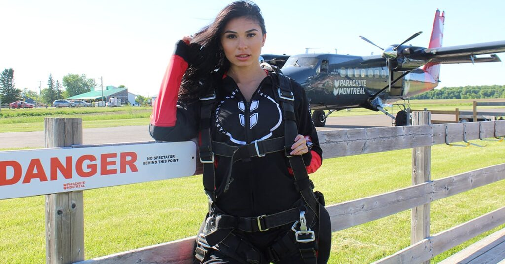 skydiving around Montreal