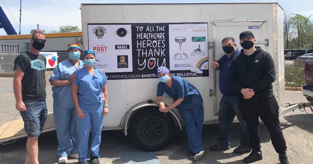 Rue Sainte-Anne's restaurants deliver 245 meals to Lakeshore Hospital