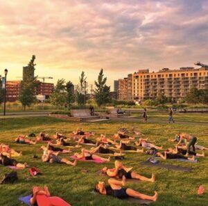 Yoga on the Canal with Moksha Yoga Griffintown