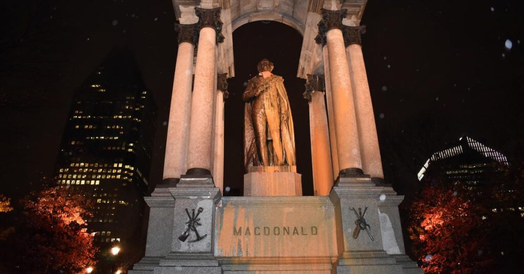 Statues under attack -Attack on Statue of Sir John A. Macdonald?