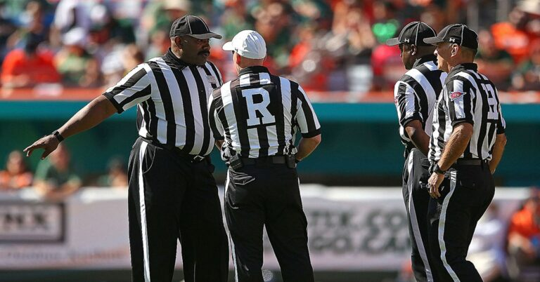 The black and white world of professional referees