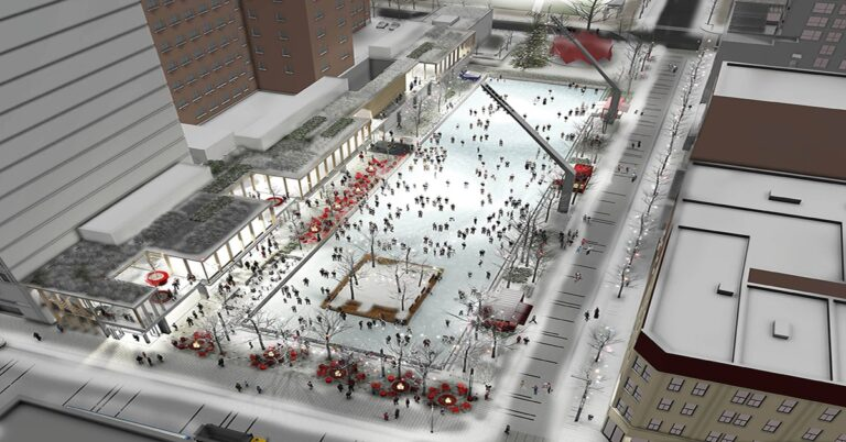Montreal's new outdoor skating rink