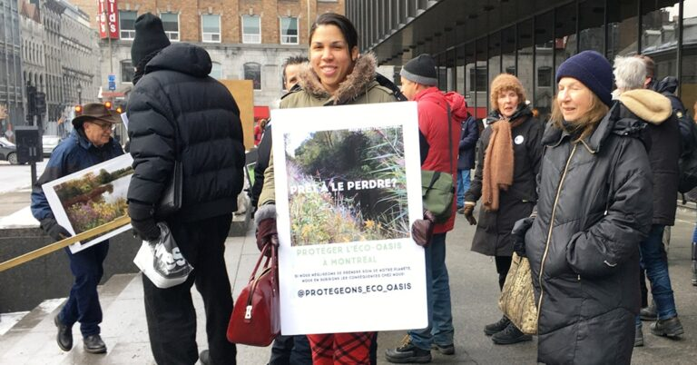 Environmentalists protest Technoparc destruction – Mayor Plante refuses to Settle out-of-court