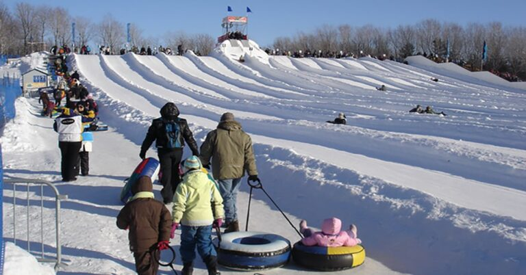 winter playland at Parc Jean-Drapeau