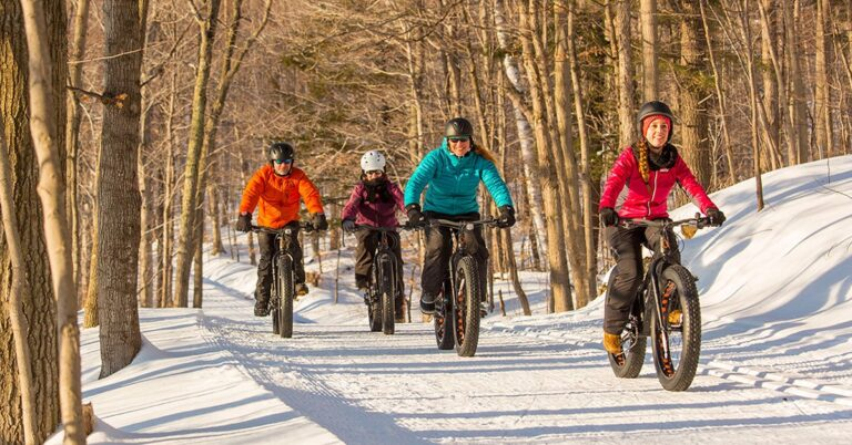 winter cycling route