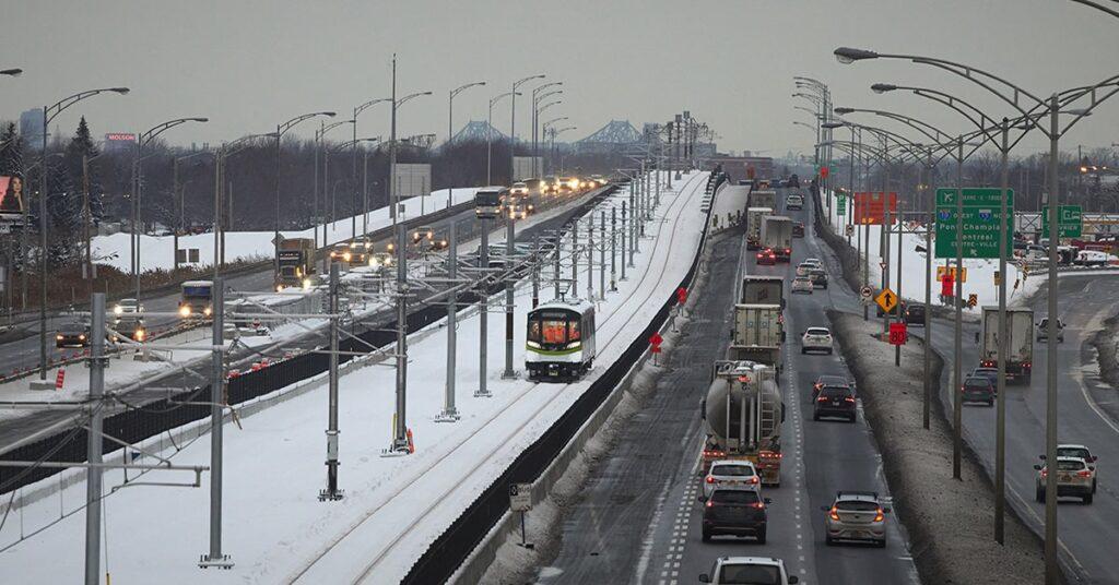 REM runs first train on tracks