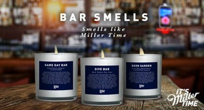 candles inspired by classic bar scents