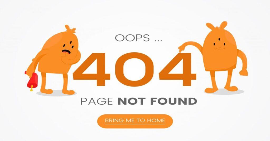 broken link on your website