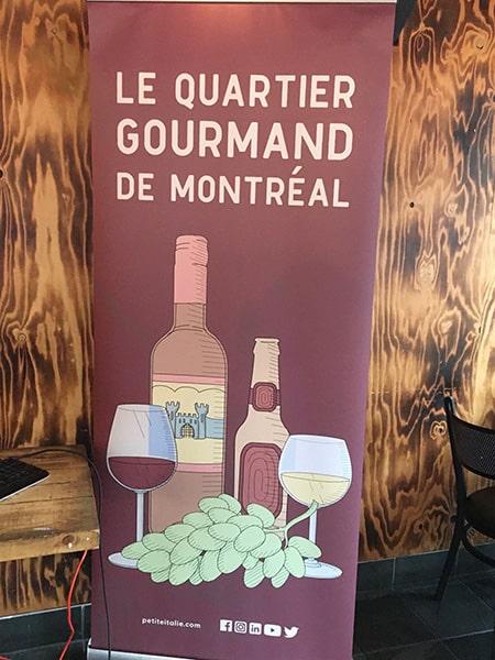 Le quartier gourmand de Montreal