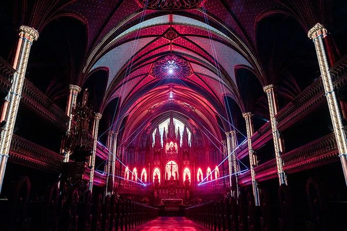 Notre Dame Basilica AURA show