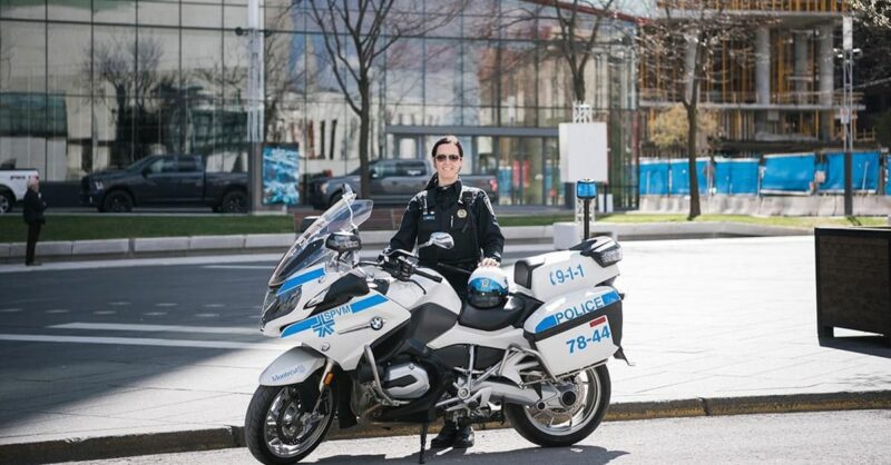 First SPVM female motorcycle officer