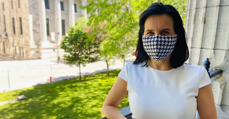 Montreal-Mayor-Valerie-Plante-wearing-a-face-mask-FB-Photo-min