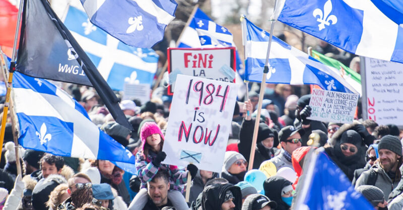 Montrealers protest against COVID-19