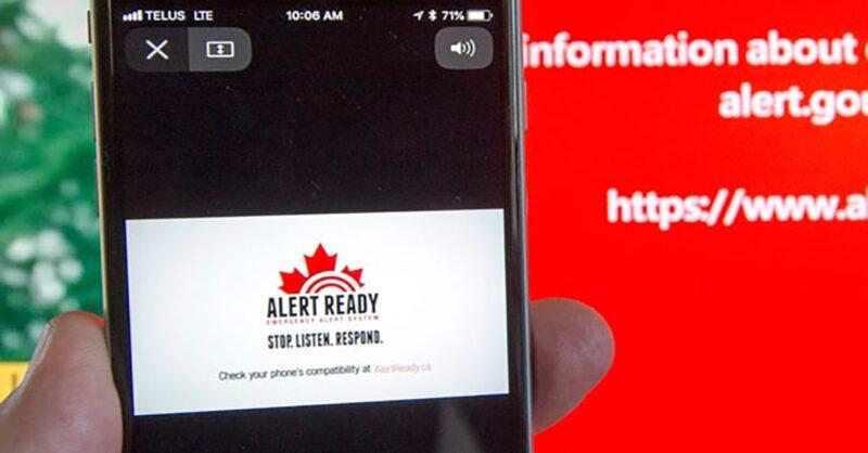 smartphone warnings across Quebec