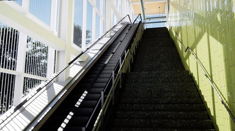 REM-Fairview-Pointe-Claire-Station-Stairs-and-Escalator-min