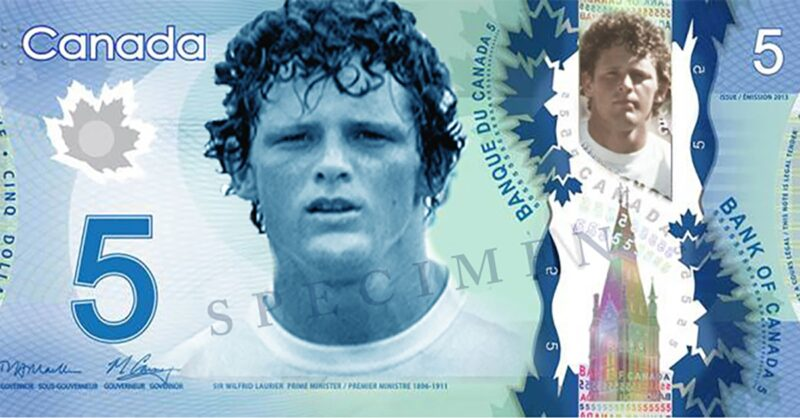 Terry Fox could be the next face of the $5 Canadian note